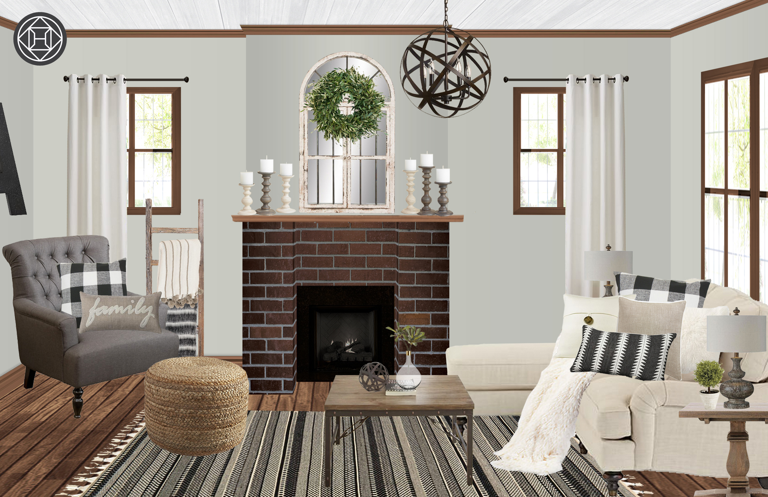 contemporary modern glam living room design by havenly interior view hannah s profile