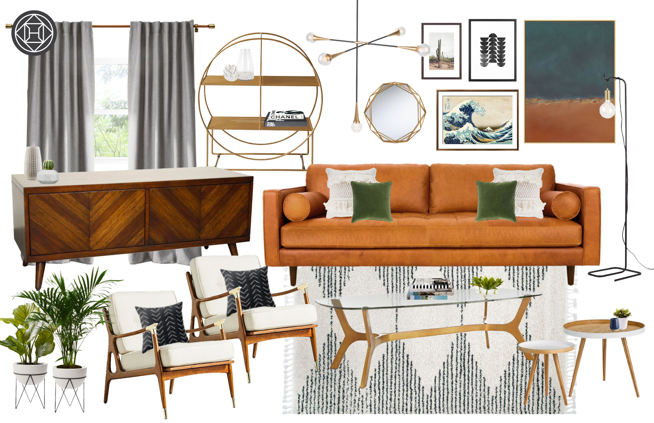 Modern Eclectic Midcentury Modern Design By Havenly