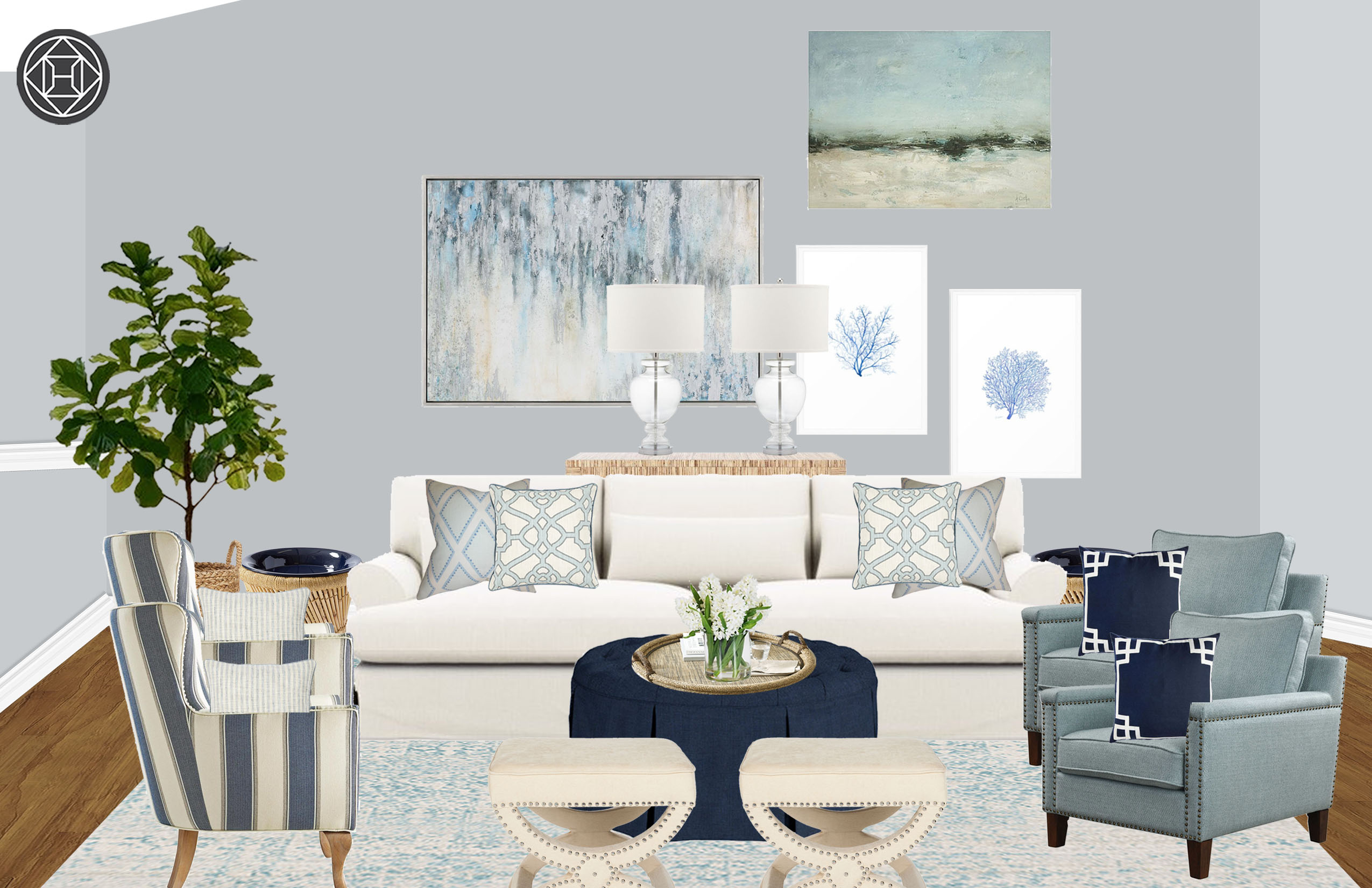 Admirable Coastal Living Room Design By Havenly Interior Designer Alissa Andrewgaddart Wooden Chair Designs For Living Room Andrewgaddartcom