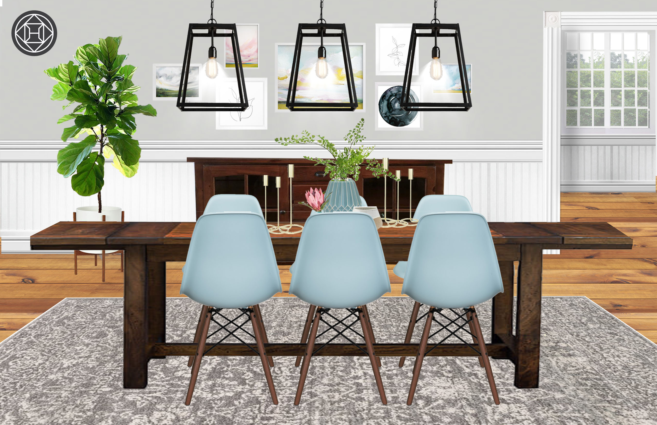 Marvelous Eclectic Bohemian Dining Room Design By Havenly Interior Cjindustries Chair Design For Home Cjindustriesco