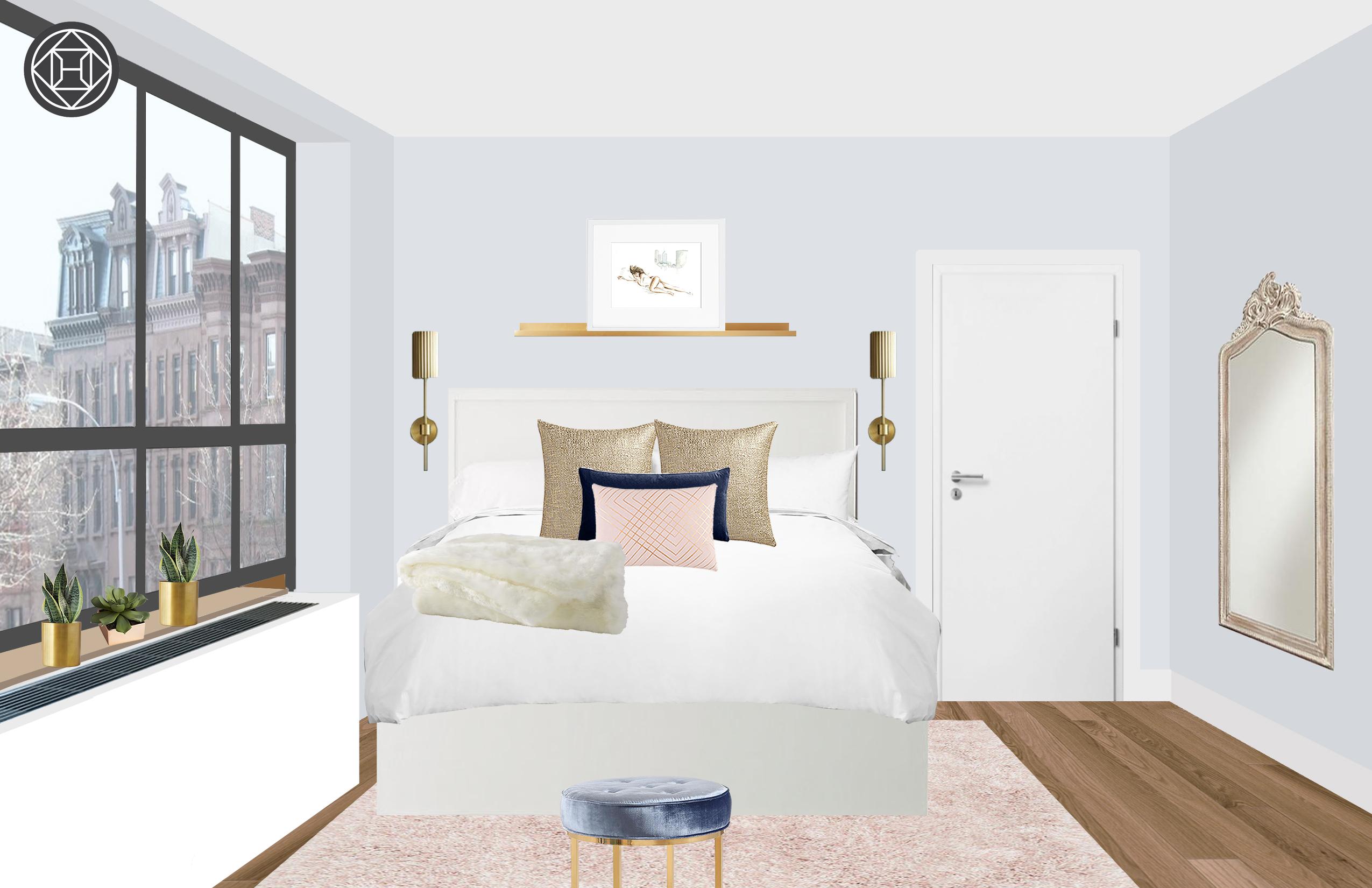 Modern, Glam Bedroom Design by Havenly Interior Designer Catherine