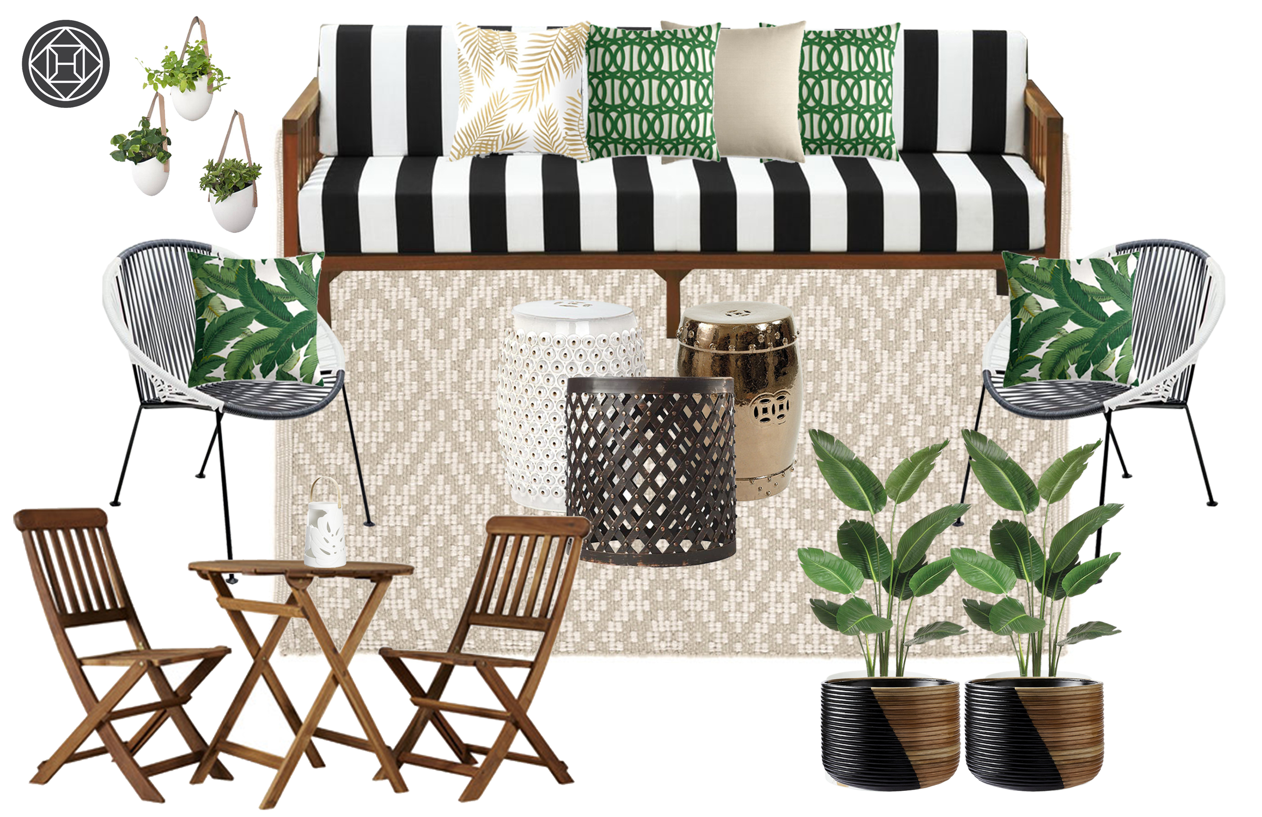 Akira Collins Interior Designer Havenly Navy M Patio Space With Contemporary And Boho Influences