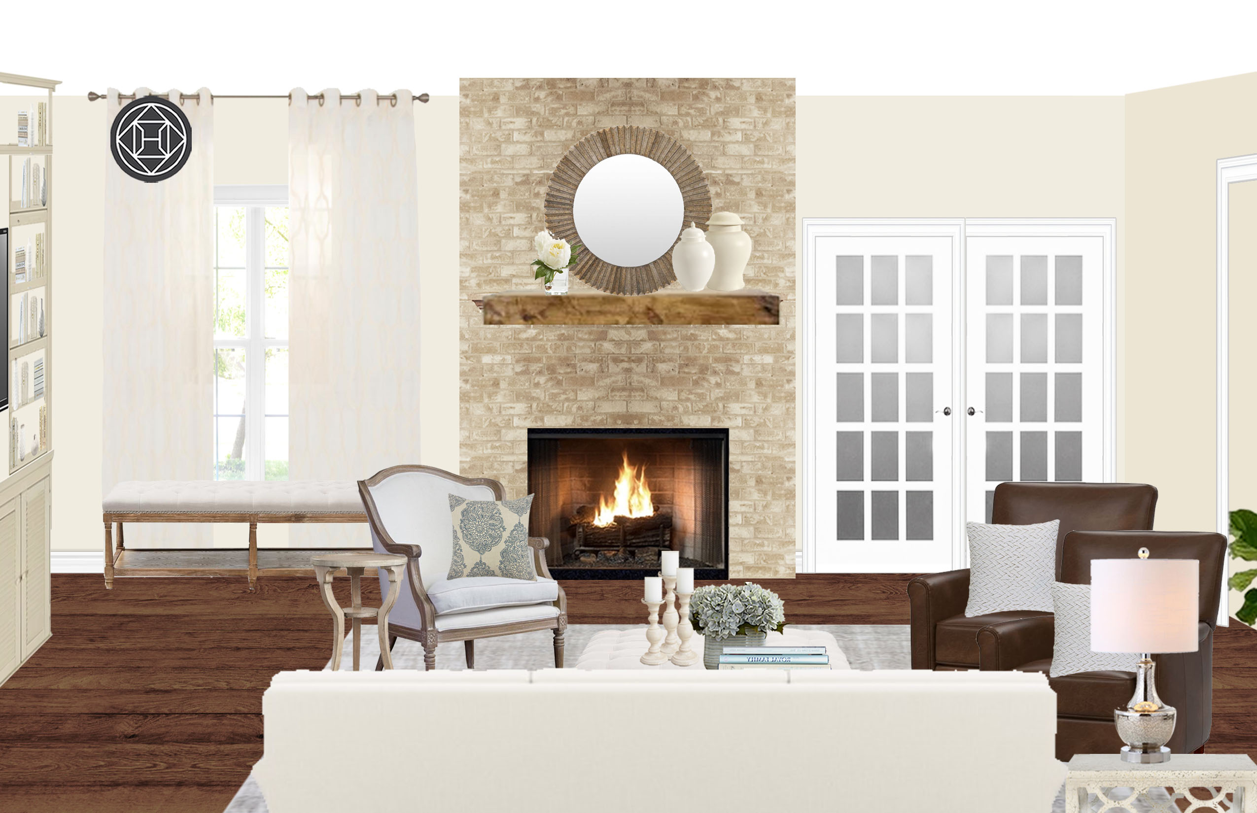 Traditional Transitional Living Room Design By Havenly