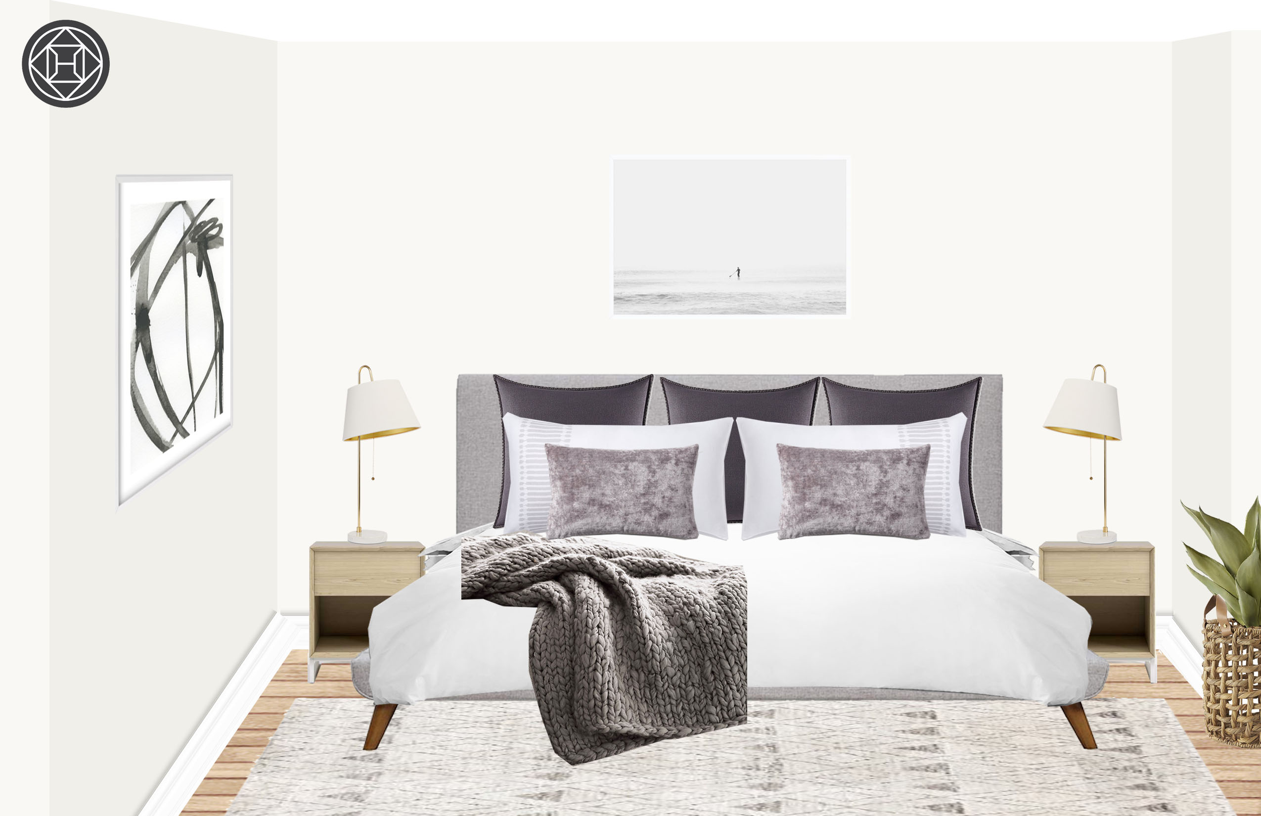 Contemporary, Modern, Bohemian Bedroom Design by Havenly ...