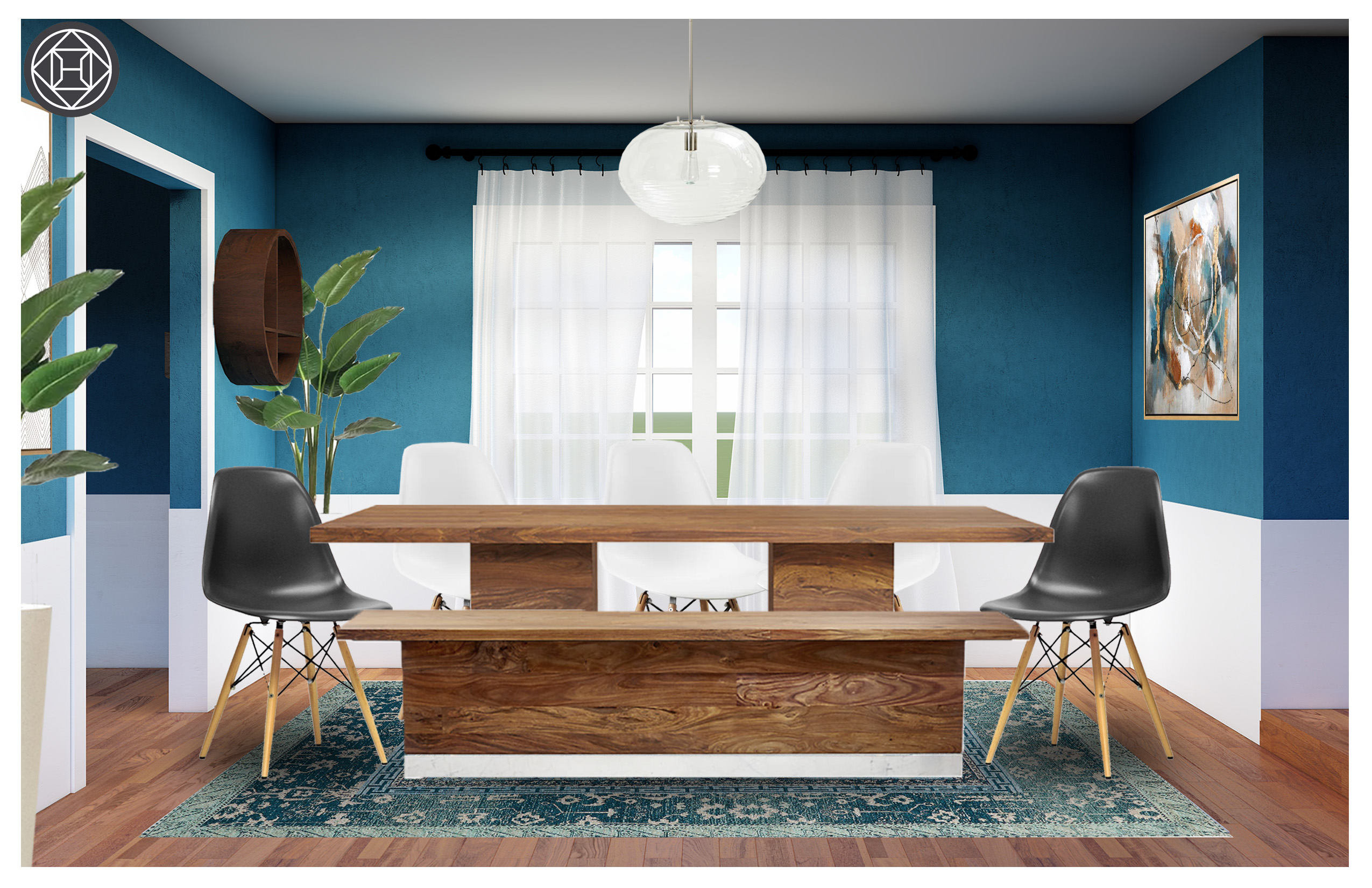 Terrific Eclectic Dining Room Design By Havenly Interior Designer Julio Caraccident5 Cool Chair Designs And Ideas Caraccident5Info
