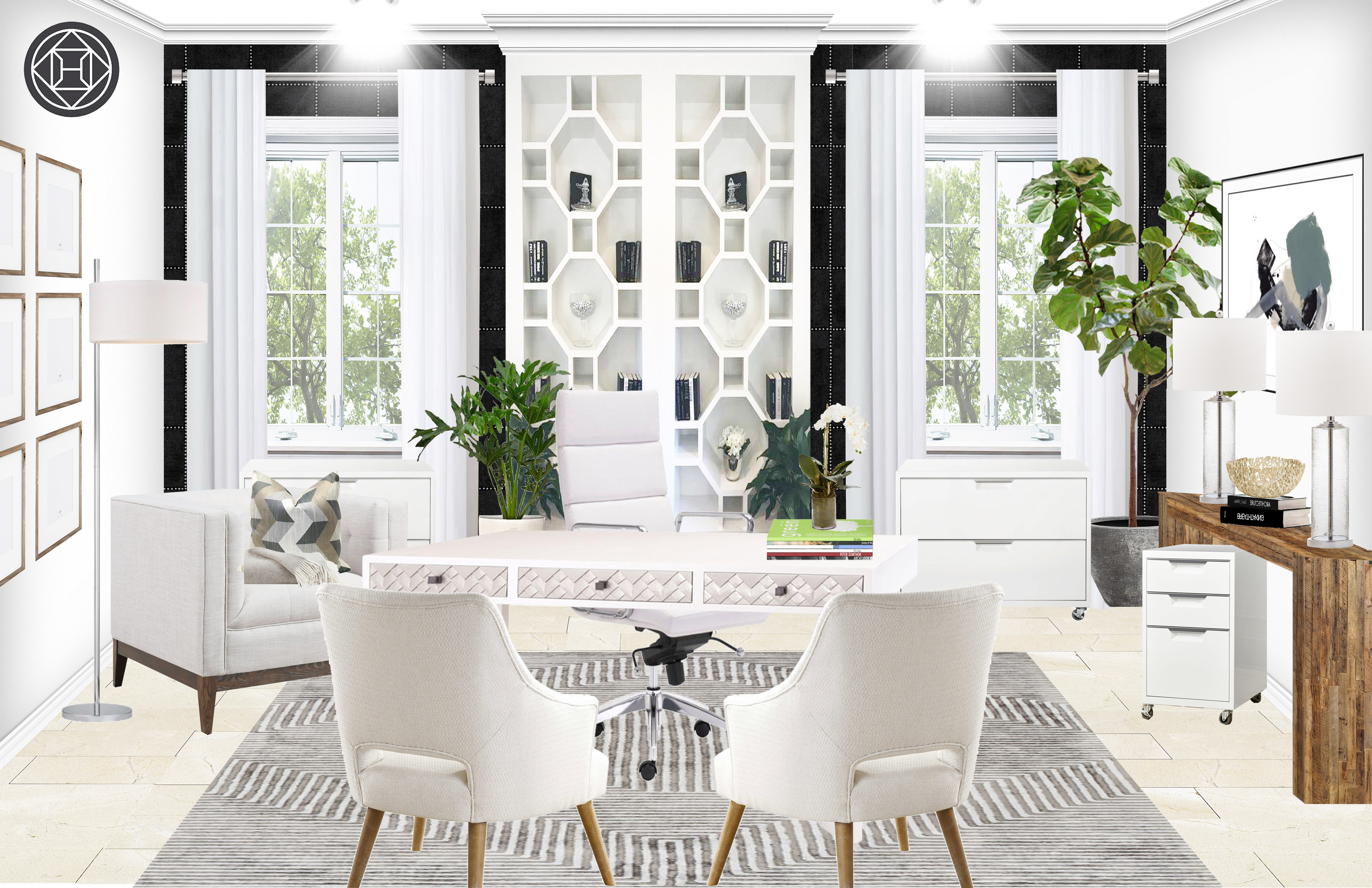 modern classic office design by havenly interior designer by tracie rh havenly com modern classic office chair modern classic home office