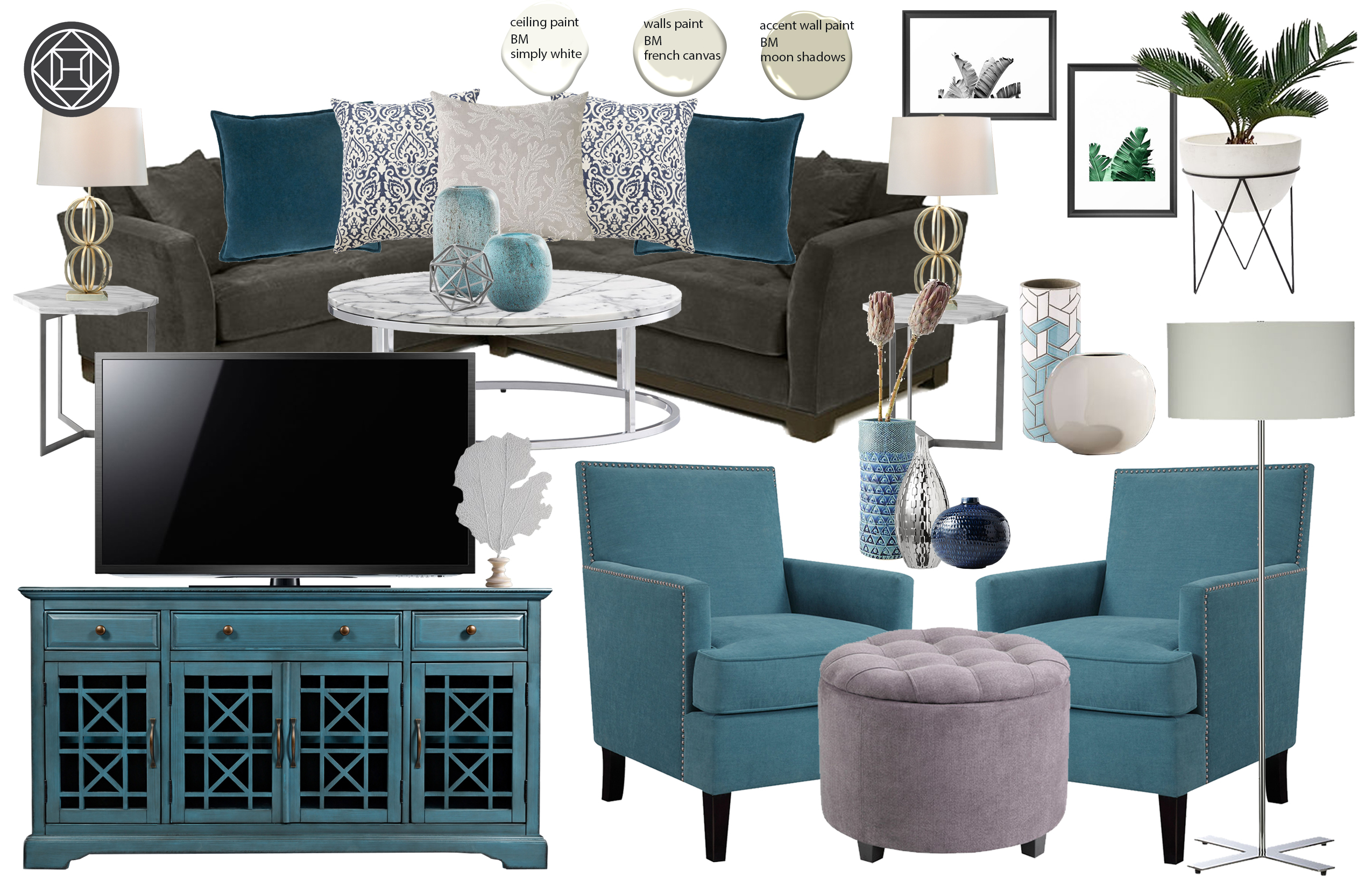 Exceptionnel Contemporary, Modern, Classic Living Room Design By Havenly ...