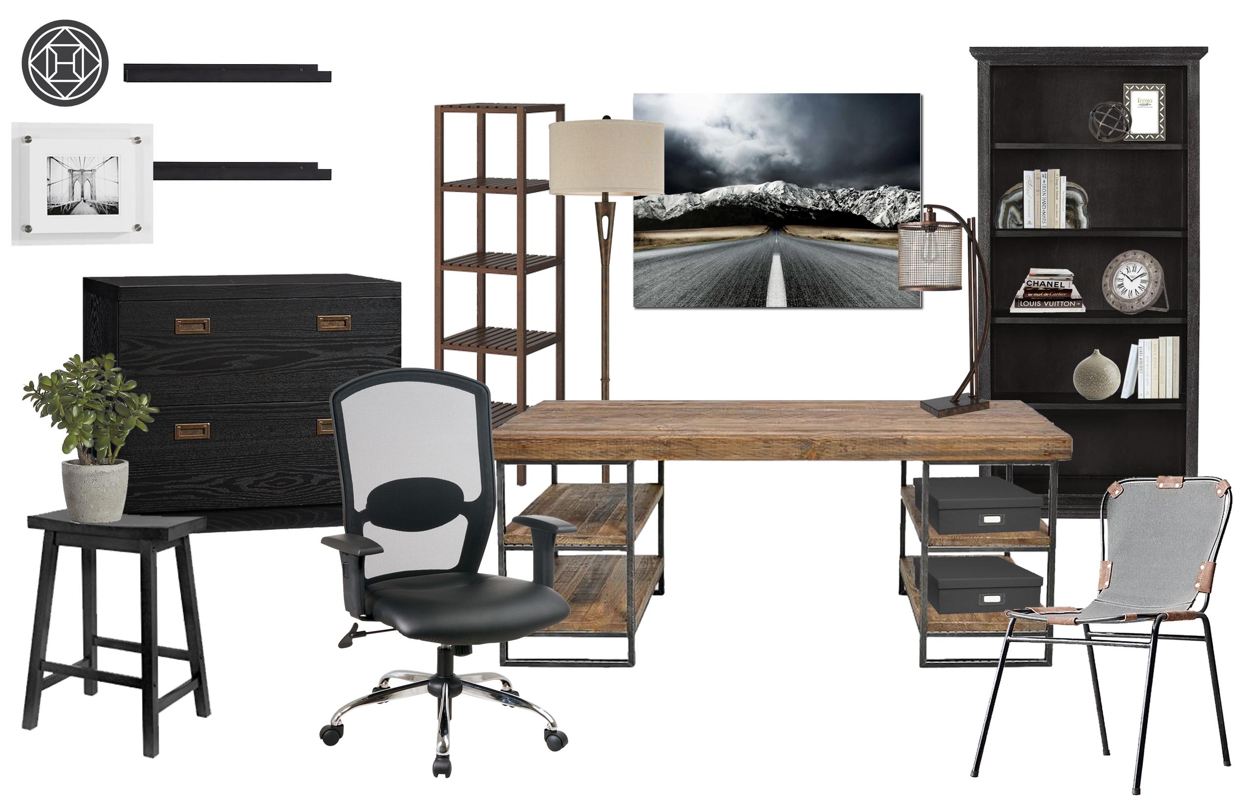 Sara Rustic Modern Office