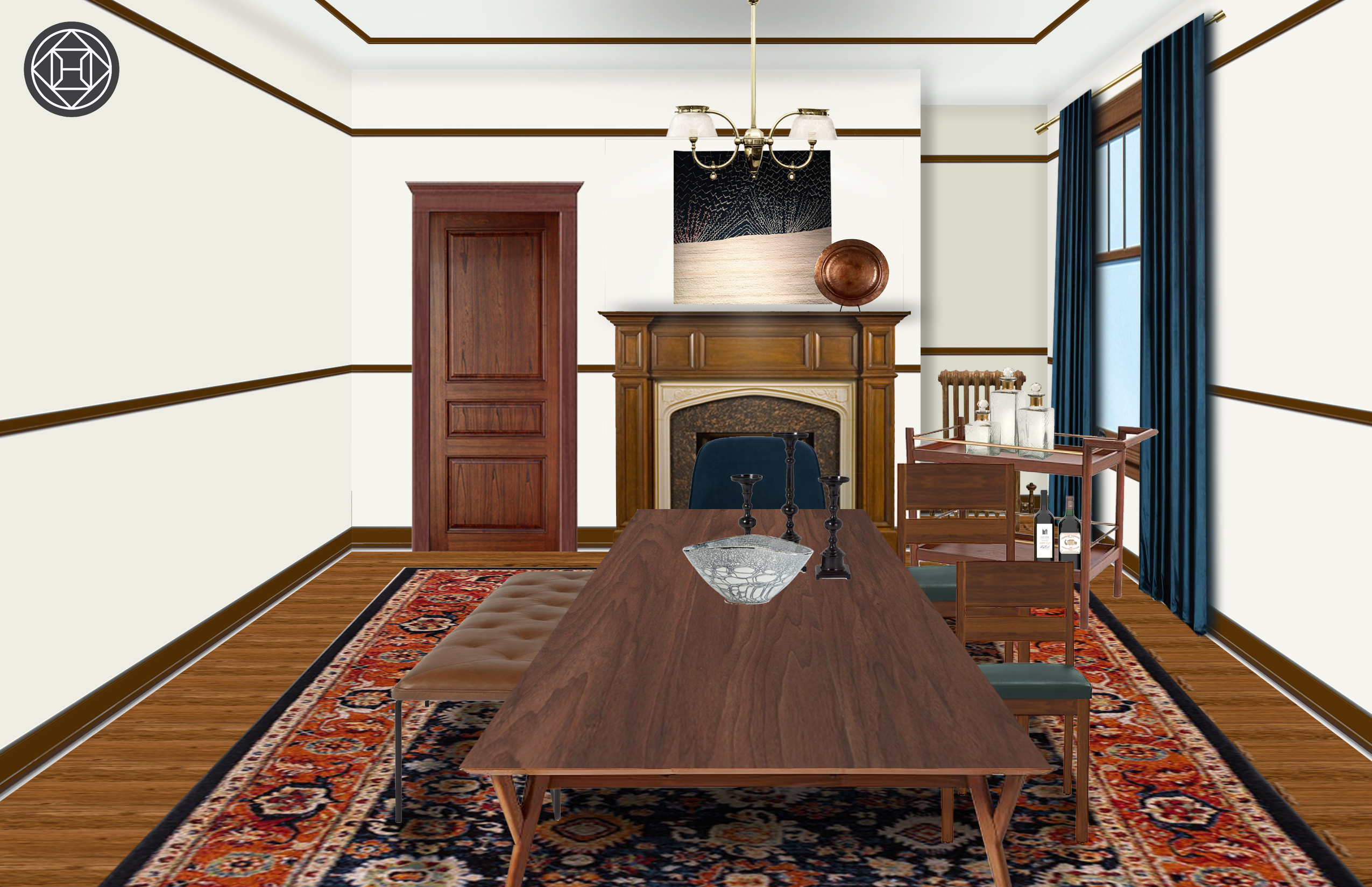 Enjoyable Eclectic Midcentury Modern Dining Room Design By Havenly Ibusinesslaw Wood Chair Design Ideas Ibusinesslaworg