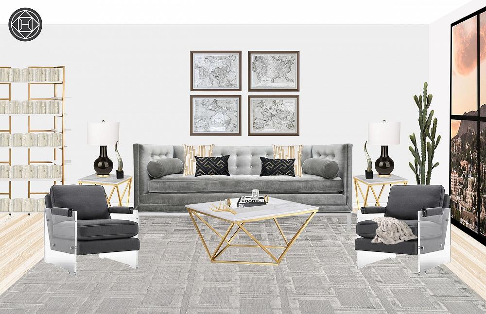 Brilliant Contemporary Modern Glam Minimal Living Room Design By Spiritservingveterans Wood Chair Design Ideas Spiritservingveteransorg