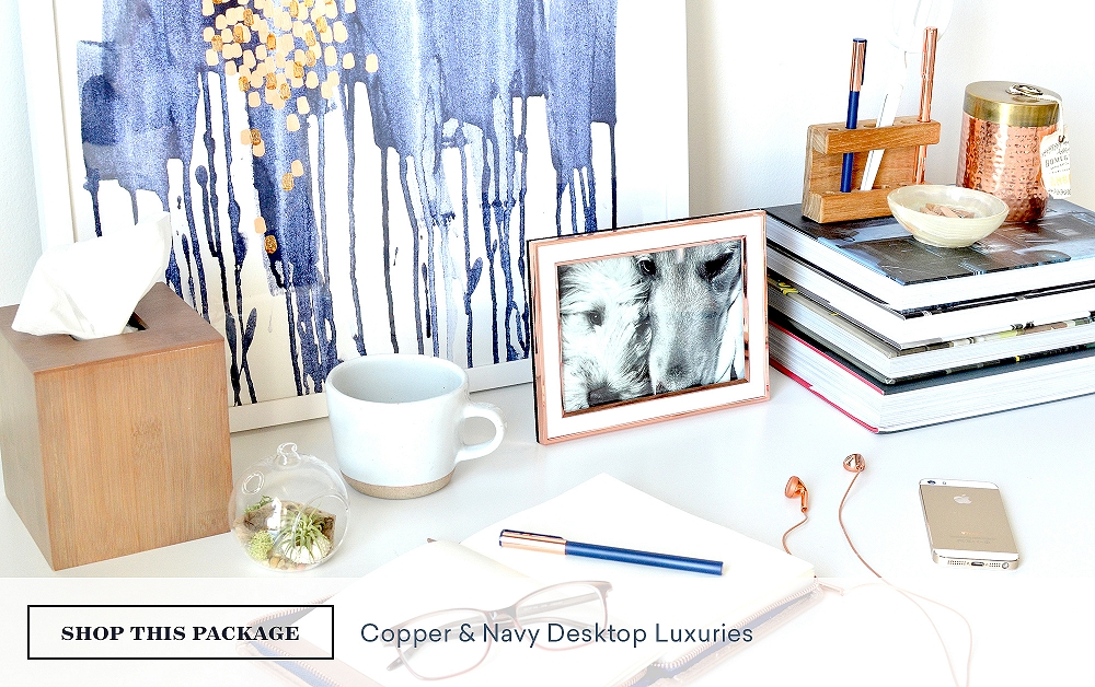 Copper & Navy Desktop Luxuries