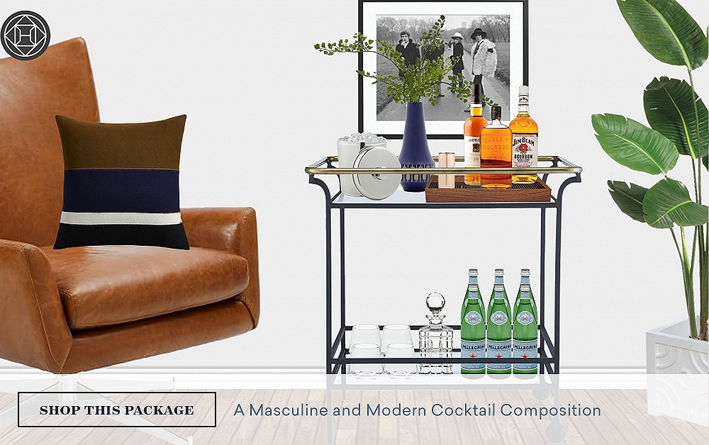 Bar Cart Styling: A Masculine & Modern Cocktail Composition