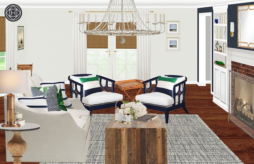 Jessica Preppy Luxe Living Room
