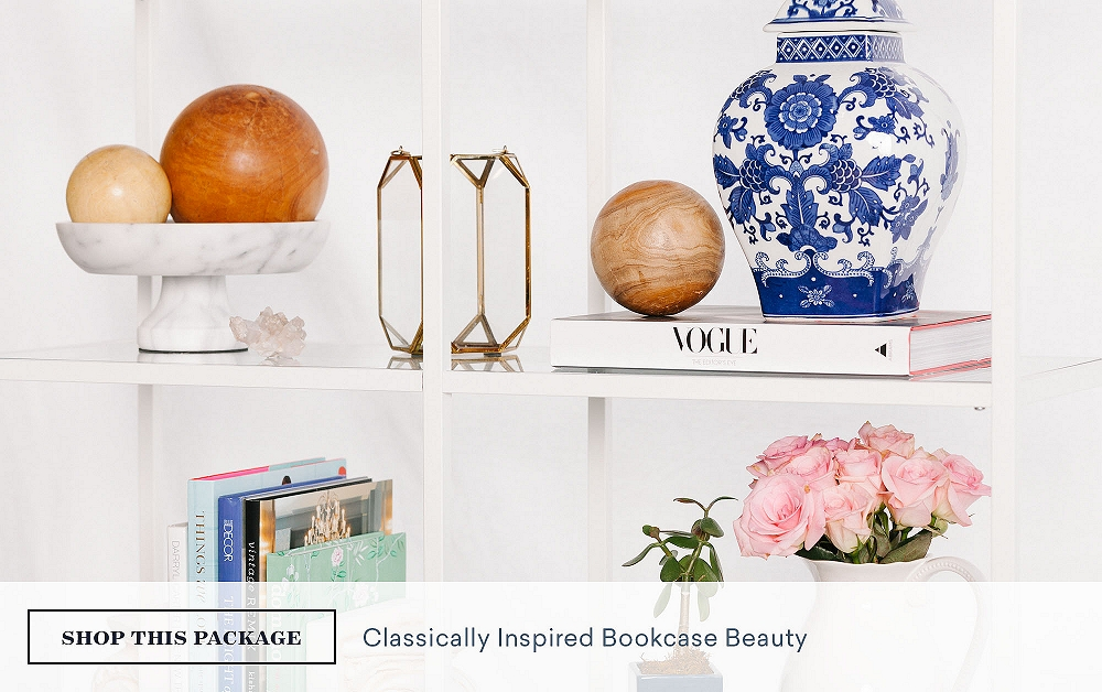 Classically-Inspired Bookcase Beauty