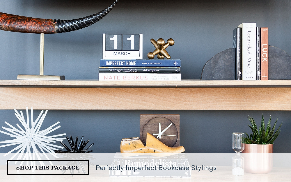 Perfectly Imperfect Bookcase Stylings