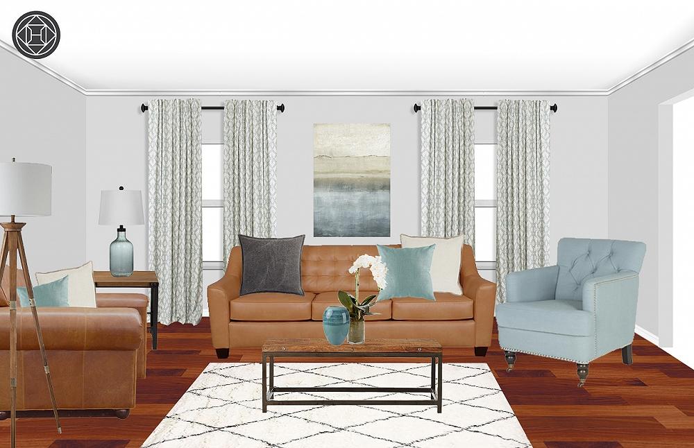 Contemporary / Traditional Living Room Interior Design By Karen
