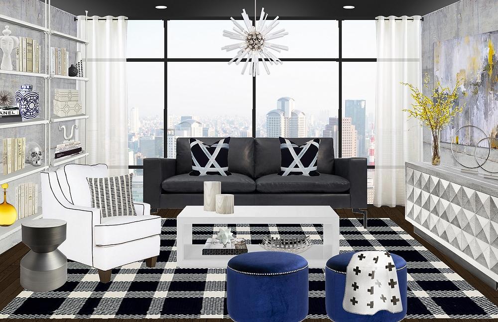 Fashion Week Home Inspiration: A Rag & Bone Contemporary Living Room