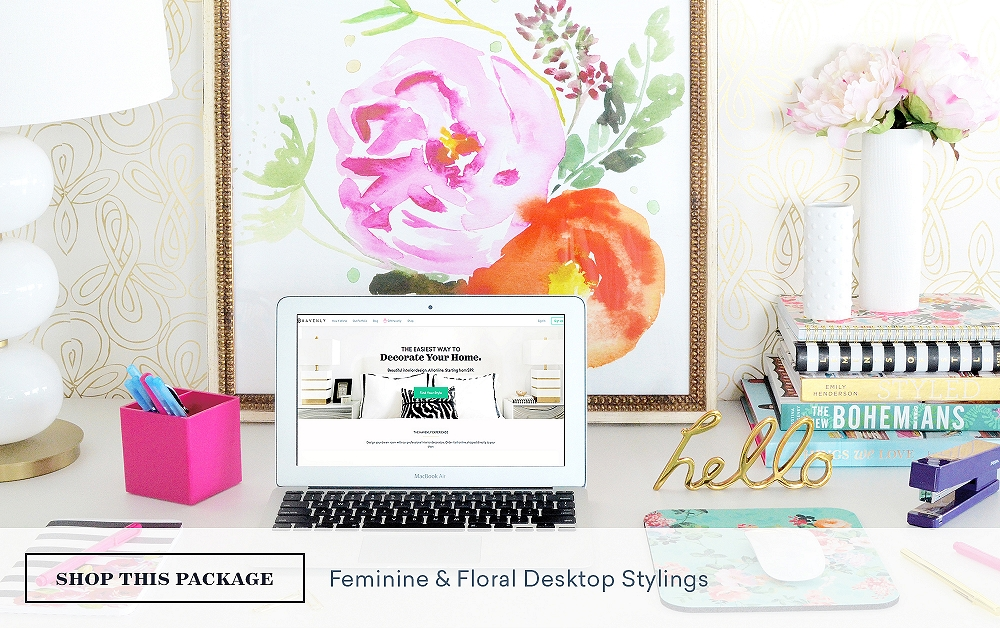 Feminine & Floral Desktop Stylings
