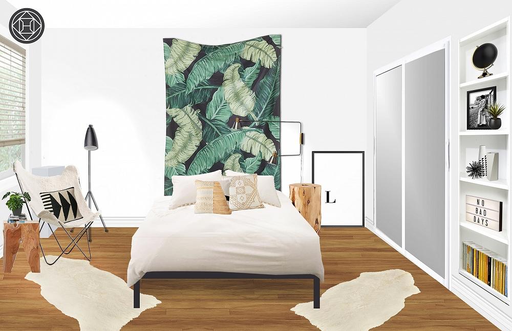 Asia Minimal Boho Bedroom