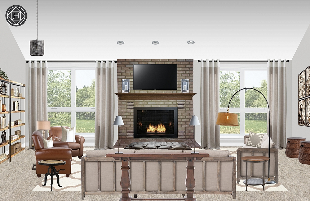 Astounding Classic Traditional Rustic Living Room Design By Havenly Gamerscity Chair Design For Home Gamerscityorg