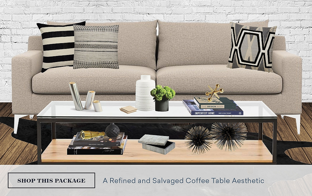 A Refined & Salvaged Coffee Table Aesthetic