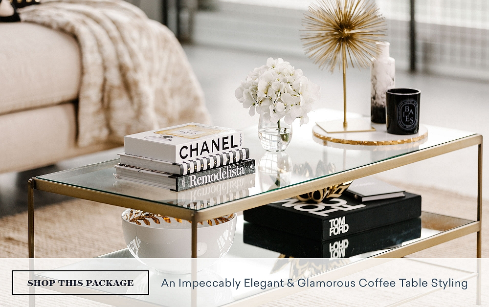 An Impeccably Elegant & Glamorous Coffee Table Styling