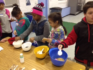 Hoboken kids enjoying a cooking class.