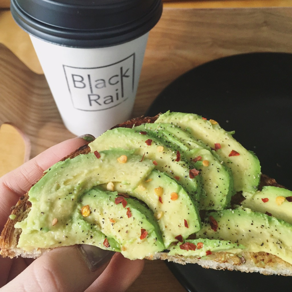avocado toast black rail coffee