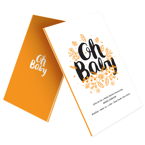 Baby Shower Invitations Custom Invitation Printing Design Online