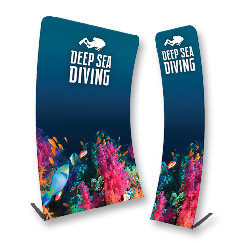 Curved Fabric Banner Displays