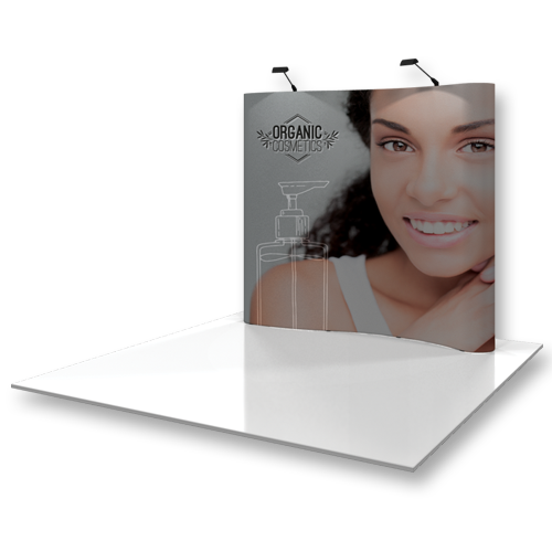 Curved Popup Exhibit Systems