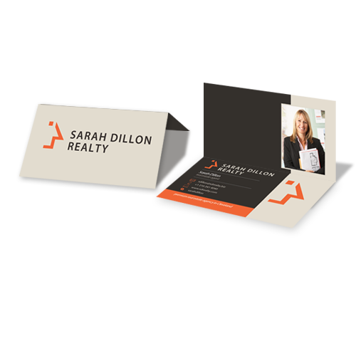 Foldover business cards custom business card printing custom foldover business cards colourmoves