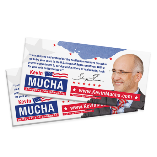 Political Campaign Palm Cards | Custom Political Printing | Custom ...