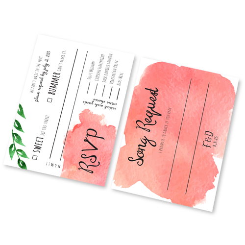 Wedding RSVP Cards Custom Wedding Printing Design Online Fast