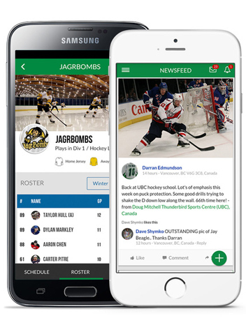 Hockey Mobile App - League and tournament software