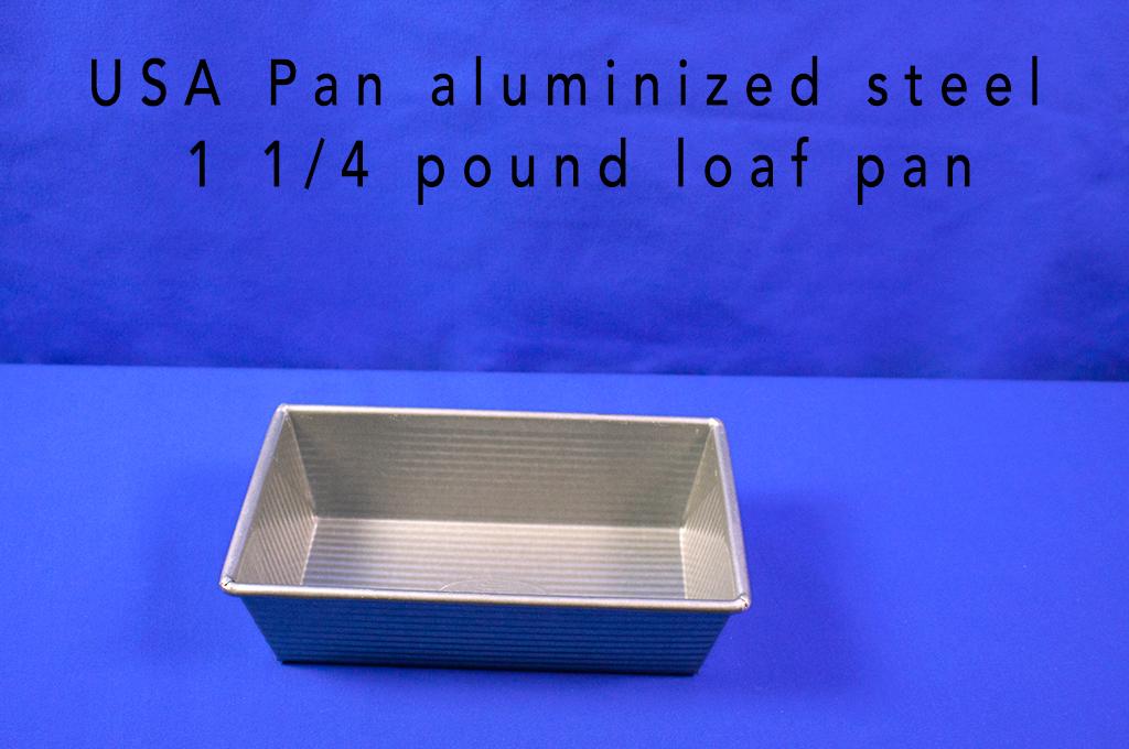 USA Pan aluminized steel 1 1/4 pound loaf pan.