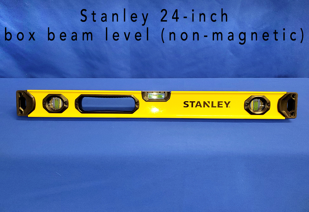 Stanley 24-inch box beam level (non-magnetic).