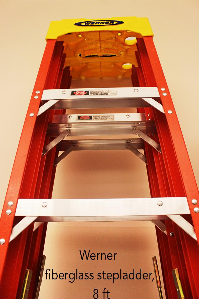 Werner fiberglass stepladder, 8 ft.