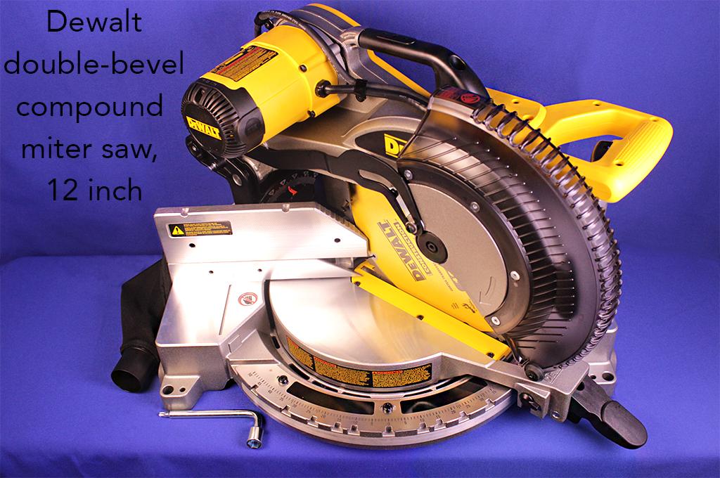 Dewalt double-bevel compound miter saw, 12 inch.
