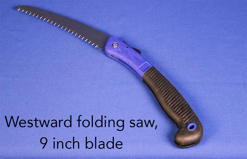 Westward folding saw, 9 inch blade.