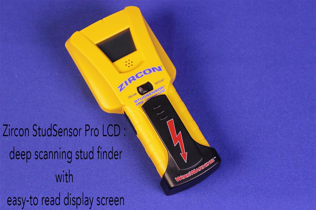 Zircon StudSensor Pro LCD : deep scanning stud finder with easy-to read display screen.