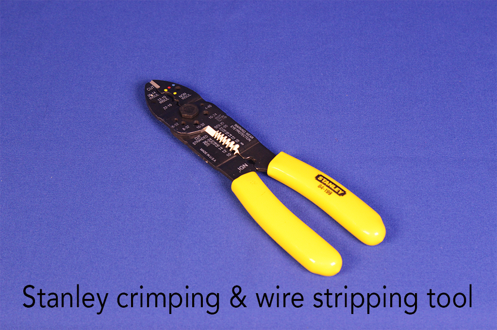 Stanley crimping & wire stripping tool.