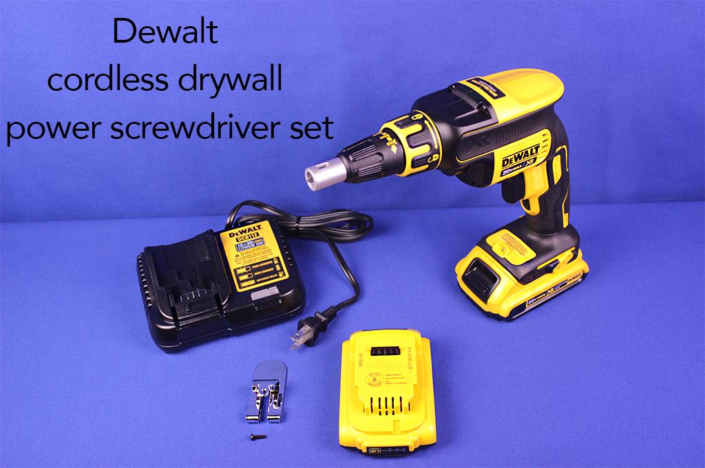Dewalt cordless drywall power screwdriver set.
