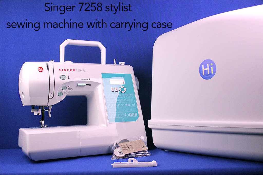 Singer 7258 stylist sewing machine with carrying case.