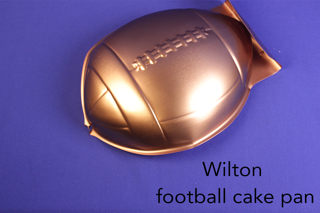 Wilton football cake pan.