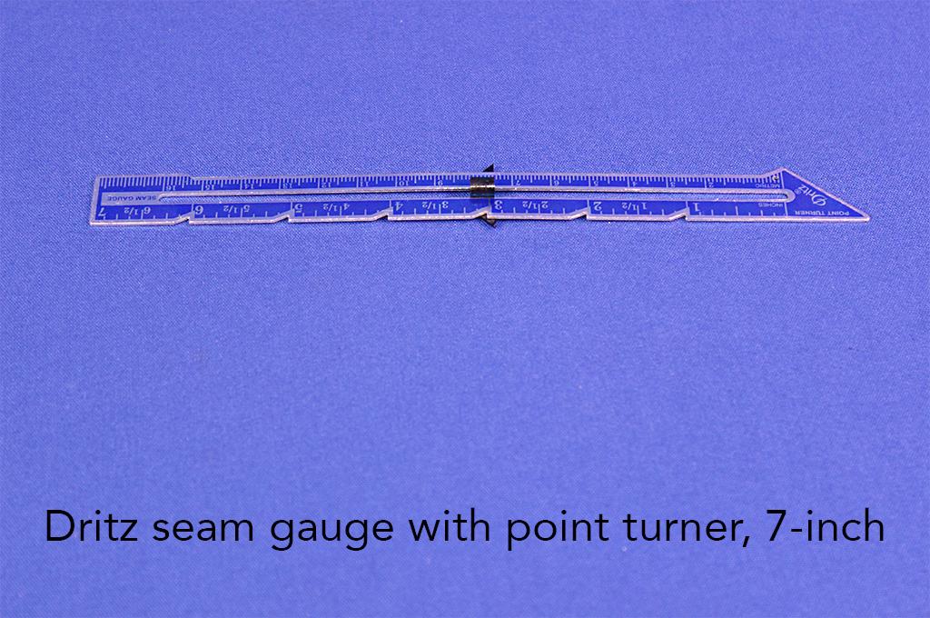 Dritz seam gauge with point turner, 7-inch.