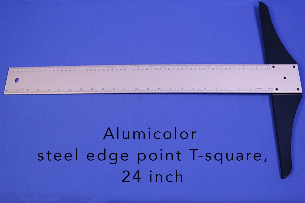 Alumicolor steel edge point T-square, 24 inch
