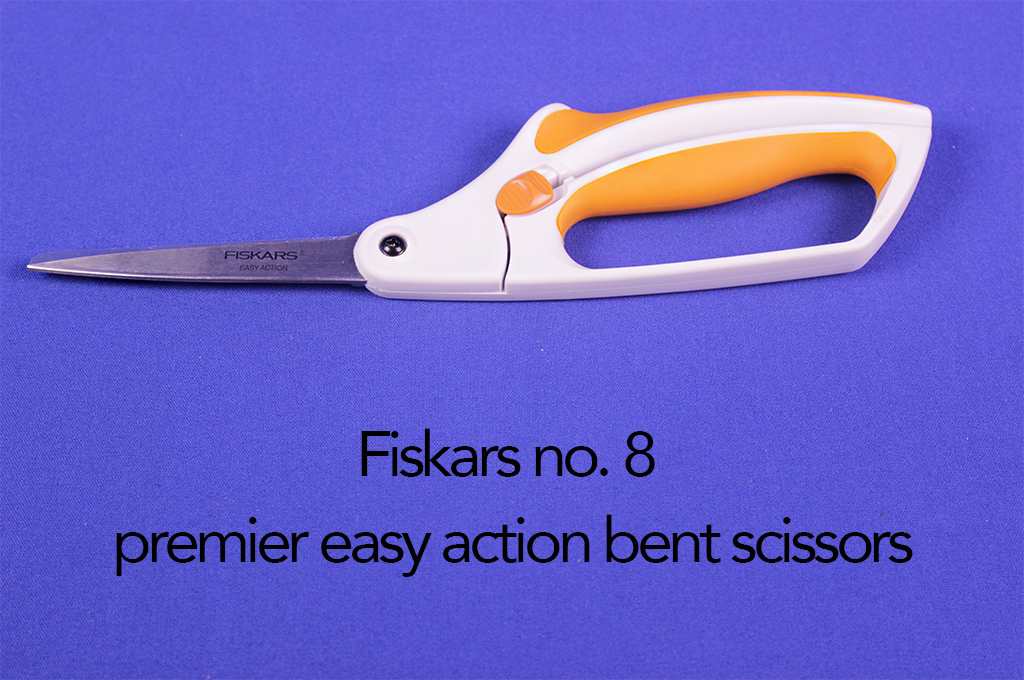 Fiskars no. 8 premier easy action bent scissors.