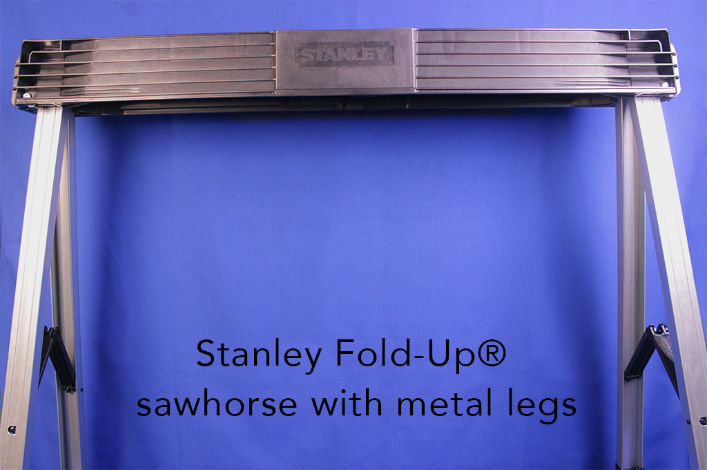 Stanley Fold-Up® sawhorse with metal legs