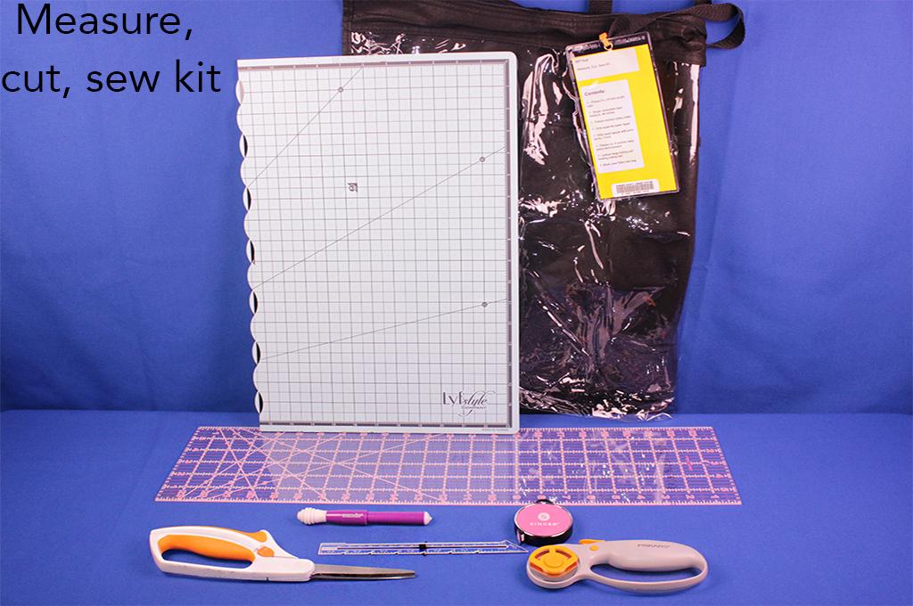 Measure, cut, sew kit.